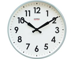 Cloudnola Factory Railway clock 45cm Grey Numbers